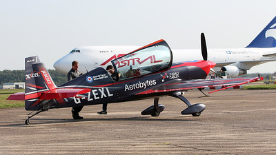 2Excel Aviation, Extra EA 300L G-ZEXL  (Blade 1 of The Blades Aerobatic Display Team) By Graham Miller.