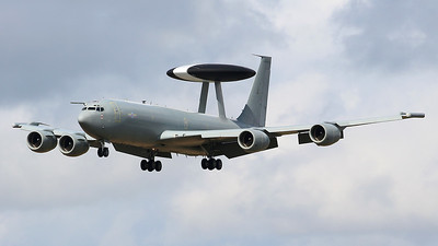 RAF, E-3D Sentry,  ZH101 did several training approaches just after lunch. By Graham Miller.