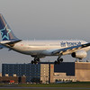 Air Transat A330-200 arriving 24R from Toronto.  Not as much wing flex on the 200 series