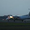 Air Canada Jazz, de Havilland Dash 8, 1/30 second shutter speed, panning, hand held<br /> To bad the fence got in the way