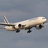 Air France B777 arriving 24R from Paris.  Note the new livery on the B777