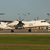 Porter Airlines flight 401 arriving from Toronto.  DASH-8-400  The six bladed prop look good.