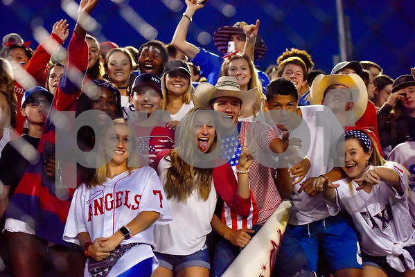 Whitehouse students pose for a photo during the 14th annual Christus Trinity Mother Frances Football Classic at Christus Trinity Mother Frances Rose Stadium in Tyler, Texas, on Thursday, Sept. 7, 2017. (Chelsea Purgahn/Tyler Morning Telegraph)