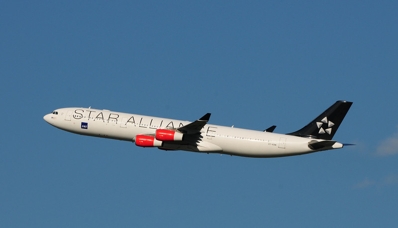 This is the Airbus A340 which has been seen a lot on both Trans-Atlantic and Trans-Pacific routes.