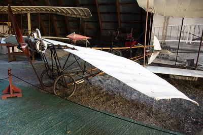 Replica of Santos Dumas' 1907 Damoiselle -- first successful European aeroplane.