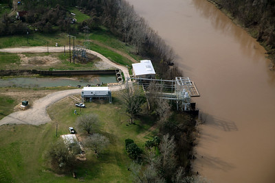 An irrigation control station along the Brazos River