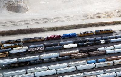 A view of the Angleton rail yard