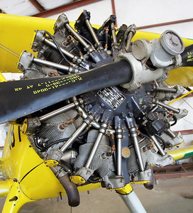 The 9-Cylinder Lycoming  R-680 engine on the Stearman