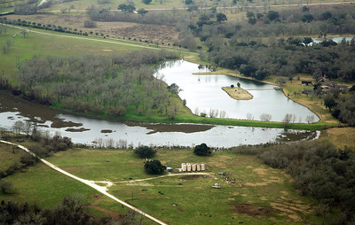 Ward Lake, one of many old horseshoe lakes that litter the county