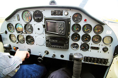 Now we're in the airplane.  This is the P92 instrument panel.