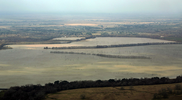 William Harris Reservoir.  See the breakwaters, planted with trees.