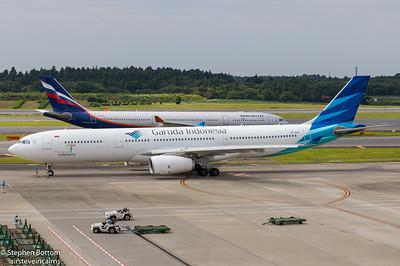 VQ-BCU AEROFLOT A330-300 PK-GHA GARUDA A330-300