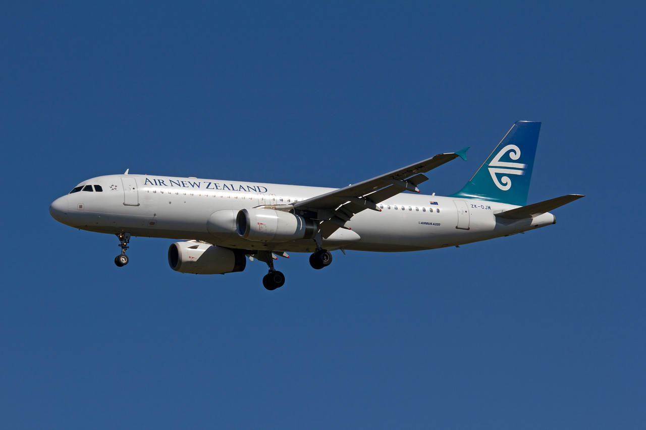 ZK-OJM AIR NEW ZEALAND A320
