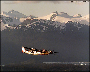 """THE LAST FLYING LIBERATOR"", a B-24J, Southeast Alaska, USA."
