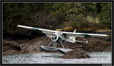 """TOO CLOSE..."", deHavilland Beaver landing at Point Baker, Alaska, USA.-----""PRILIS BLIZKO..."",deHavilland Beaver pristava u Point Baker, Aljaska, USA."