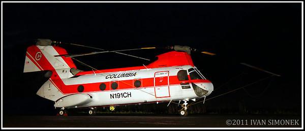 """WORKHORSE"",Boeing 107 Vertical,Wrangell,Alaska,USA."