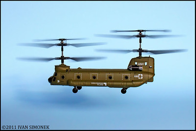 """CHINOOK"",a R/C minihelicopter only 6"" long."