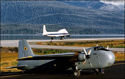 """VETERANS"",Bristol Freighter and Carvair,Wrangell,Alaska,USA."