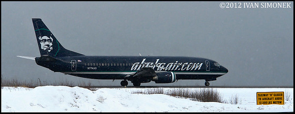 """ROLLING"",Boeing 737,Alaska Airlines,Wrangell,Alaska,USA."