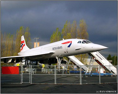 """RETIRED"", British Airways Concorde, Seattle, Wash., USA."