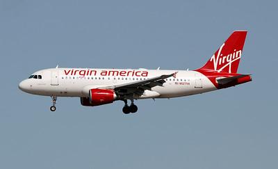 N527VA VIRGIN AMERICA A319
