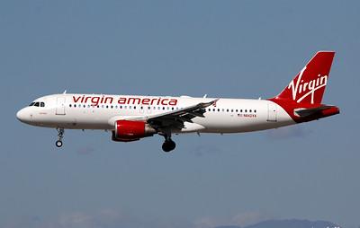 N842VA VIRGIN AMERICA A320