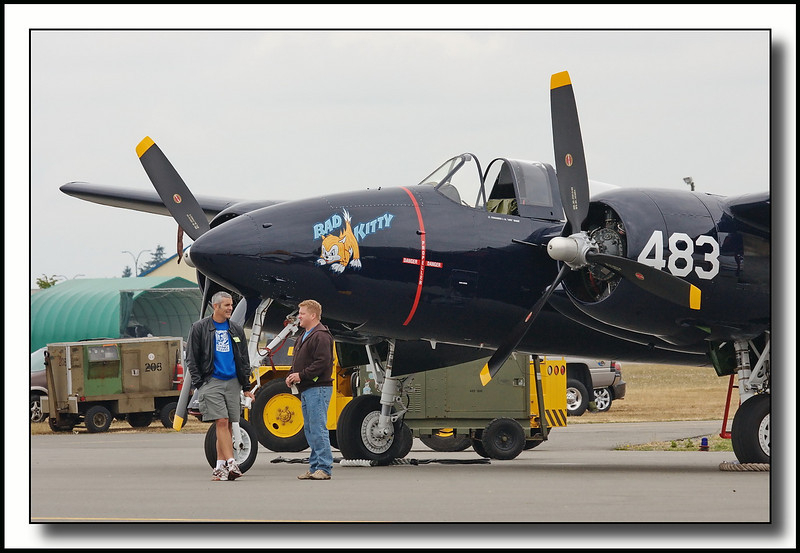 """""""Bad Kitty"""" F7F Tiger - late WWII vintage"""