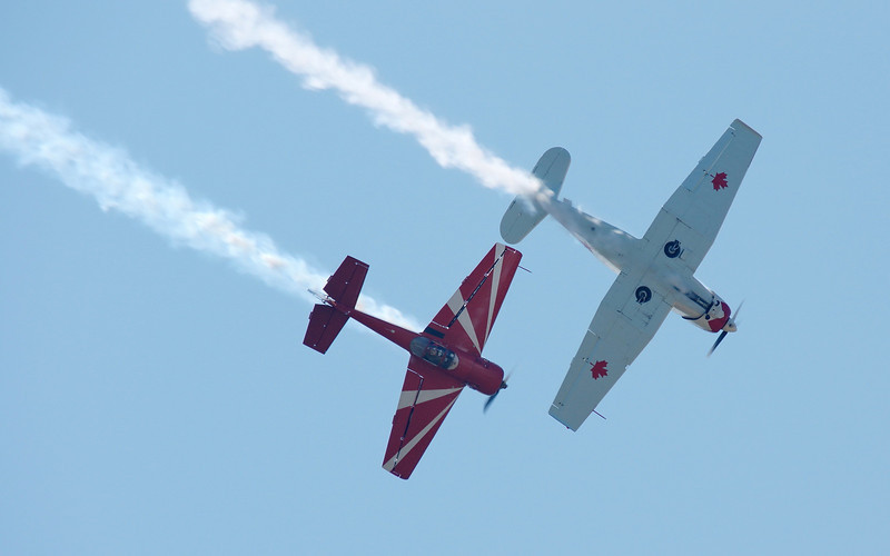 Ross Granley in Yak 18T (white) and Bud Granley in Yak 55