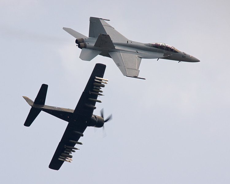 US Navy Legacy Flight - A-1 Skyraider and F/A-18F Super Hornet