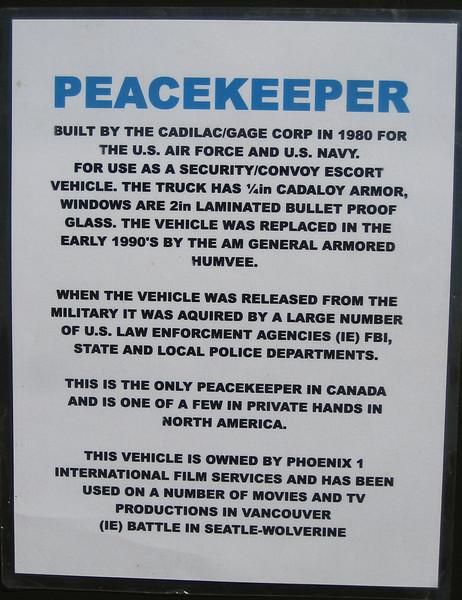 Cadilac/Gage Peacekeeper