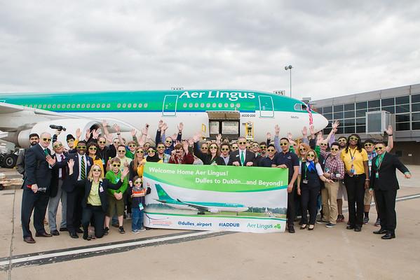 Aer Lingus at Washington Dulles International Airport, May 1st,  2015