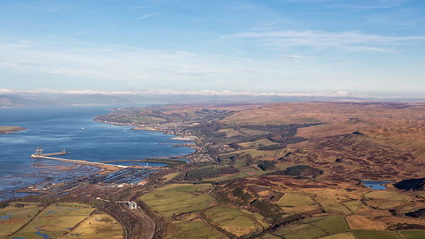 Firth of Clyde towards Largs, North Ayrshire, Scotland.