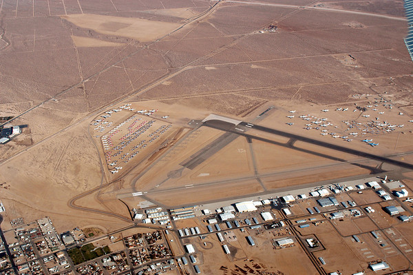 Aerial shots of Mojave airport about 2002