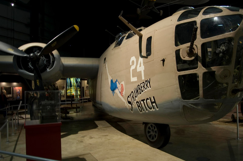 """Consolidated B-24D Liberator """"Strawberry Bitch"""" at NMUSAF"""