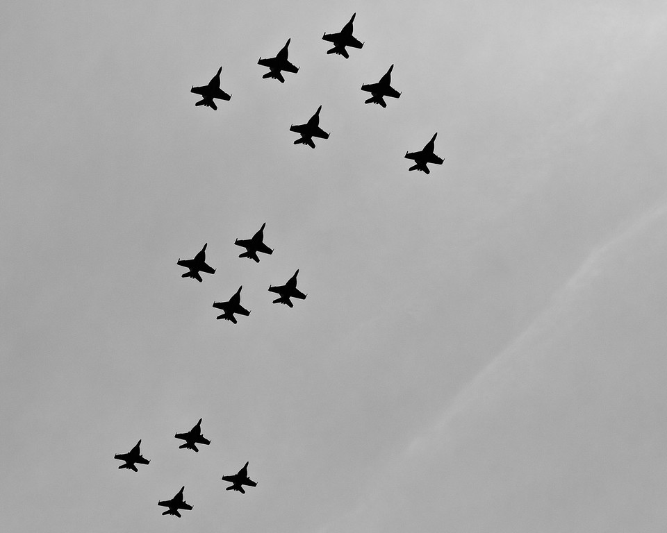 "Alternate Processing: ""Kodak Panatomic X -Exp 1986 Auto"" - Australian Air Force F/A-18 Super Hornet Flyover, Alexandra Headland, Sunshine Coast, Queensland, Australia; Friday 21 October 2011."
