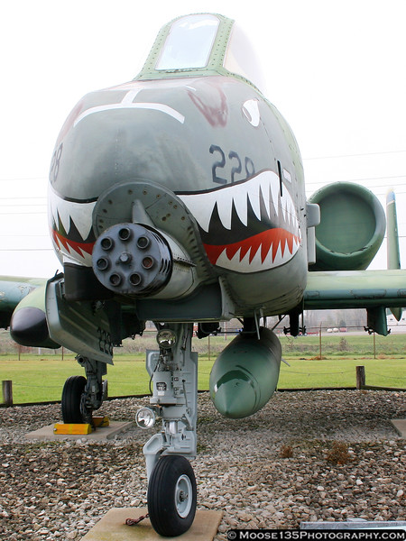 A-10 Warthog, flown by the 434th Tactical Fighter Wing, Air Force Reserve at GAFB.