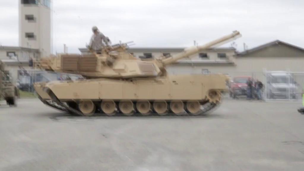 Parking M1 tank