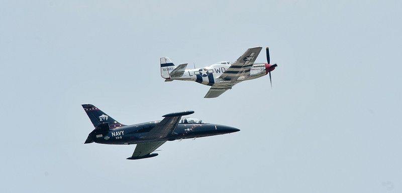 Jet and Prop flying together