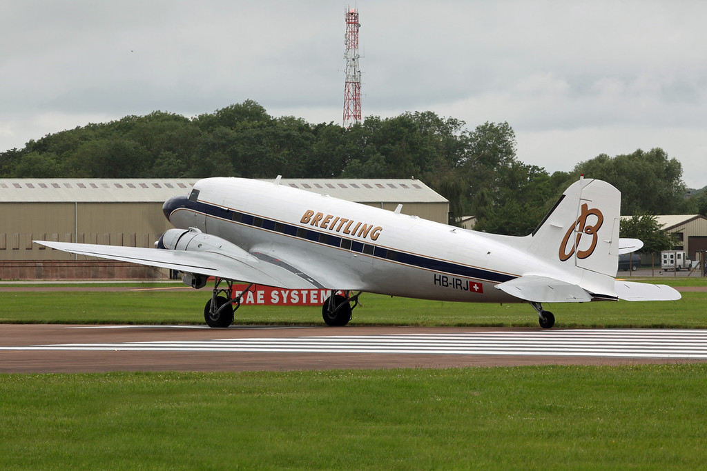 HB-IRJ Douglas DC-3 'Dakota' (RAF Fairford) Breitling:Super Constellation Flyers Association [1]
