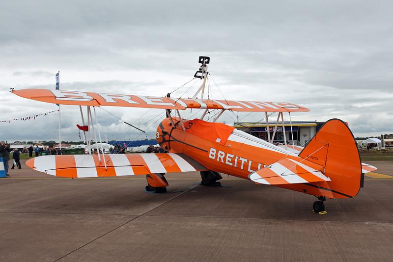 N707TJ Boeing Stearman (PT17) (RAF Fairford) Breitling
