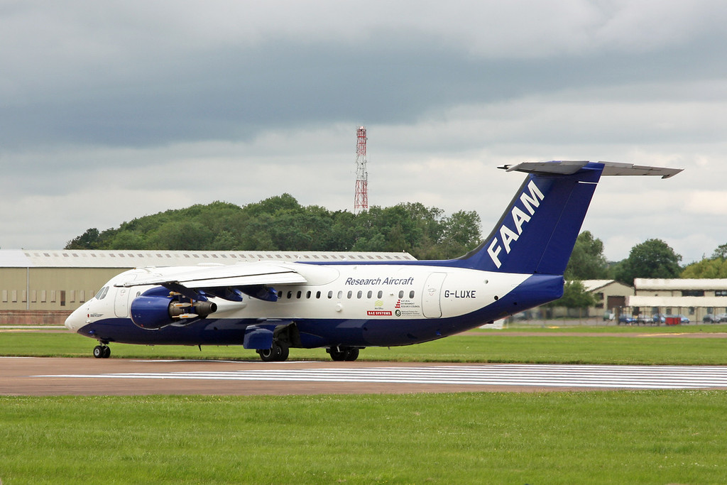 G-LUXE BAe 146-301 (RAF Fairford) BAE SYSTEMS (OPERATIONS)