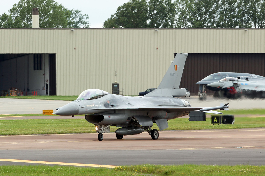 FA-83 McDonnell Douglas F16AM 'Fighting Falcon' (RAF Fairford) Belgian Air Component 2 wing