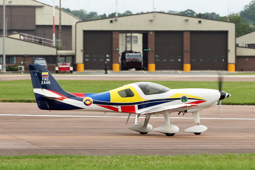 FAC2446 CIAC-Lancair T-90 Calima (RAF Fairford) Colombian Air Force