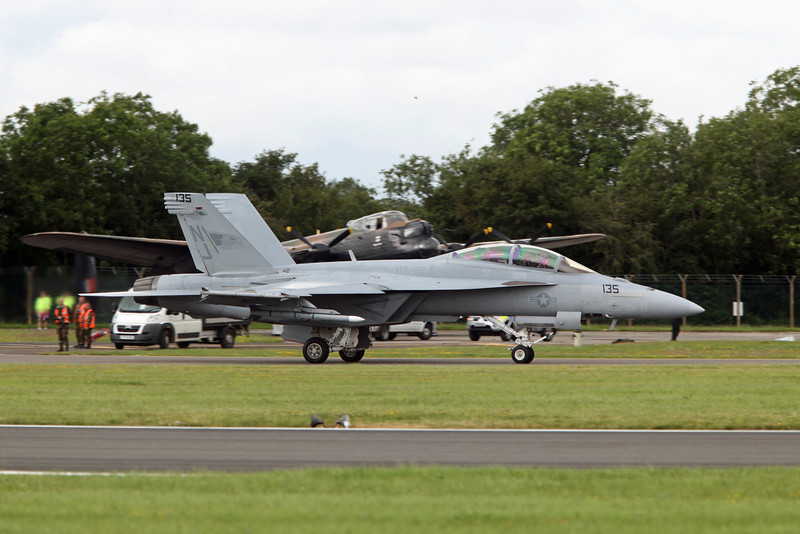 166790:NJ-135 McDonnell Douglas F:A-18F (RAF Fairford) US Navy (VFA-122) [1]