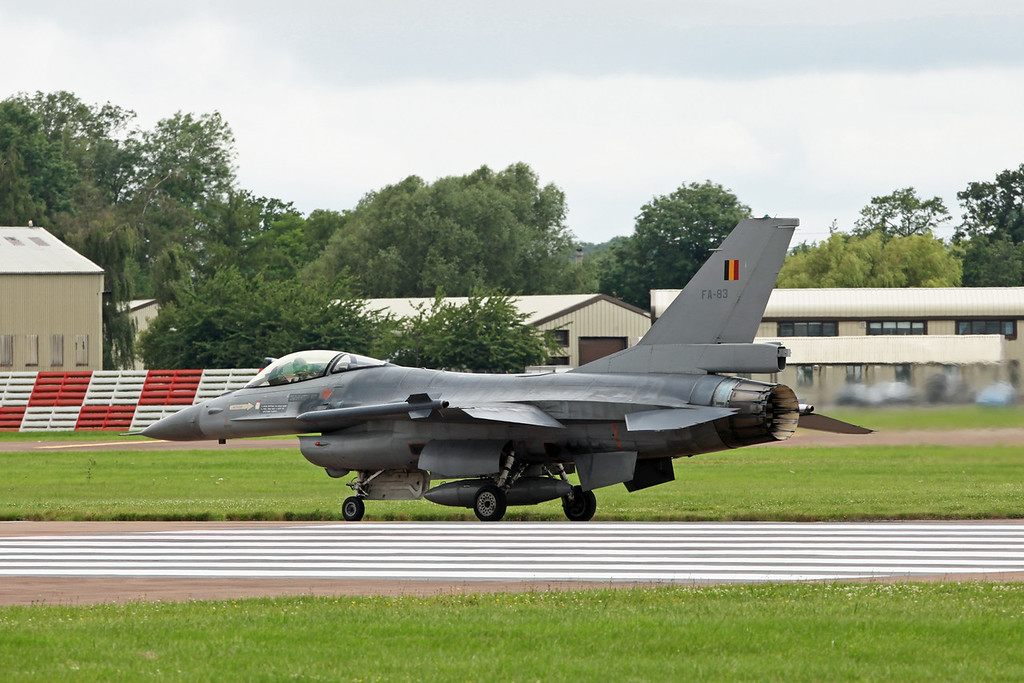 FA-83 McDonnell Douglas F16AM 'Fighting Falcon' (RAF Fairford) Belgian Air Component 2 wing [1]