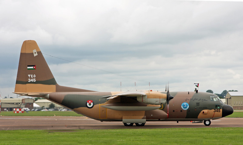 345 Lockheed C-130H 'Hercules' (RAF Fairford) Royal Jordanian Air Force 3SQN (Guts Airline)