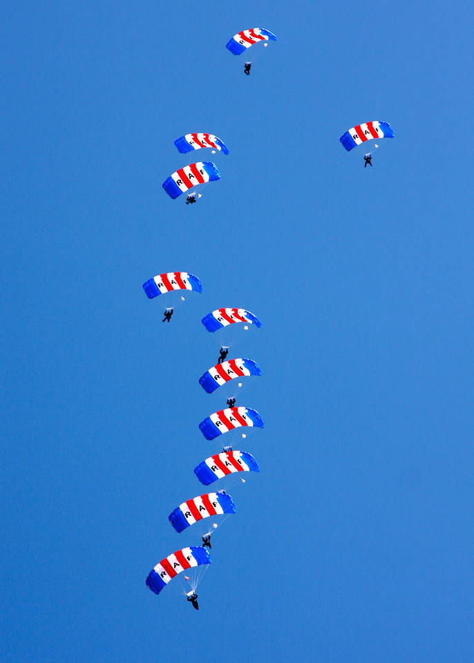 Royal Air Force Falcons Parachute Display Team (Waddington Airshow 2011)