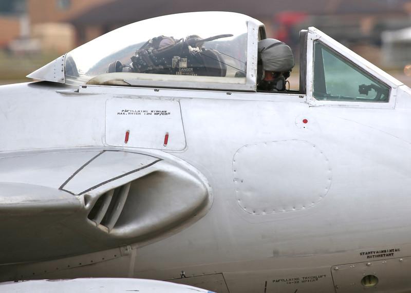 SE-DXS FFA Vampire FB6 (DH-100) (Waddington Airshow 2011)