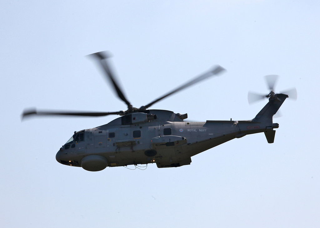 ZH855 EHI EH-101 Merlin HM1 (Mk111) (Waddington Airshow 2011)