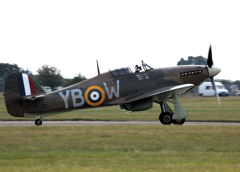 LF363 Hurricane Mk IIc (Waddington Airshow 2011)